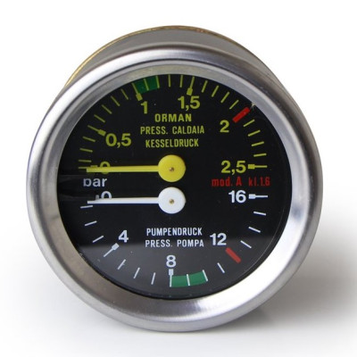 "Astoria Dual Pressure Gauge ""A"" Stainless Steel - 21100"