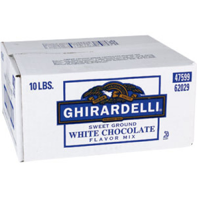 Ghirardelli Powder Sweet Ground WHITE Chocolate 10lb. Box