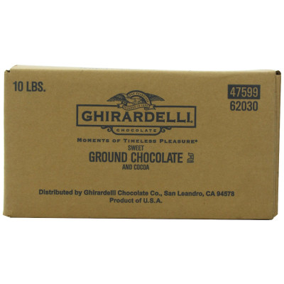Ghirardelli Powder Sweet Ground Chocolate & Cocoa 10 lb. Box