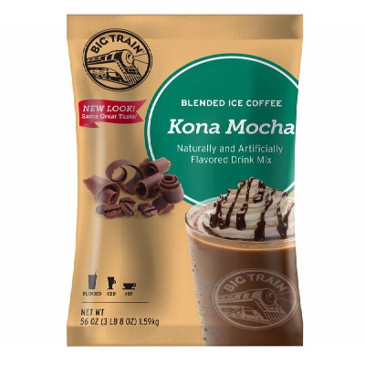 Kona Mocha Blended Ice Coffee Mix 3.5 lb Bulk Bag