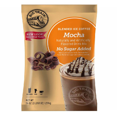 No Sugar Added Mocha Blended Ice Coffee Mix 3.5 lb Bulk Bag