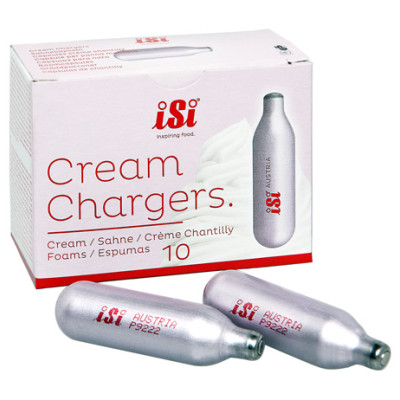 Clam Shell 10 pack of ISI Brand Cream chargers
