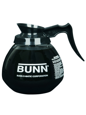 42400.0101 BUNN DECANTER,GLASS-BLK 12CUP 1PK