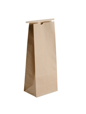Natural Kraft 1/2 lb tin tie bags - Sold in quantities of 25