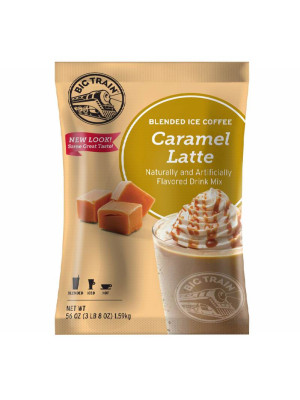 Caramel Latte Blended Ice Coffee Mix 3.5 lb Bulk Bag