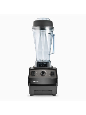 Vitamix 62826 Vita-Prep 3 with 64 oz. / 2.0 L BPA-Free, clear container complete with wet blade assembly, lid, tamper, and black base.