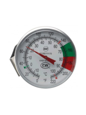 Large dial steaming thermometer..w/stainless steel clip 0-220 degrees -Component Design Northwest