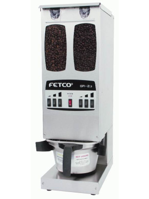 Fetco Dual Hopper Portion Control Coffee Grinder GR-2.3  (6 Batch Buttons)