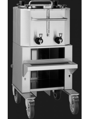 Fetco LBD-18 - 18 Gallon Capacity with Rolling Shelf & Cart System