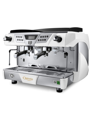 Astoria Plus 4 You 2 Front white/chrome Group Automatic Commercial Espresso Machine