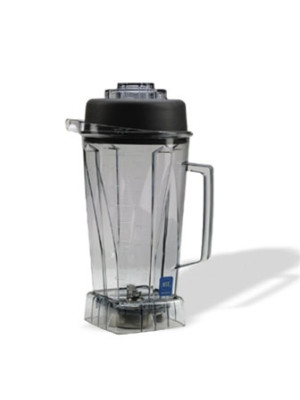 Vitamix 756 64 oz. / 2,0 L high-impact, clear container with ice blade assembly and lid.